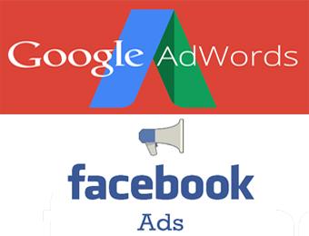 اعلانات جوجل و الفيس بوك